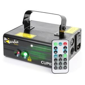 Cupid Doppelstrahl-Laser 18 W RG 12-Gobo 6-DMX IR-Fernbedienung