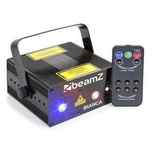 Bianca Doppelstrahl-Laser 330W RGB 12-Gobos 7-DMX Master/Slave