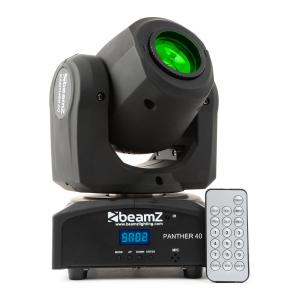 Panther 40 LED-Spot Movinghead 45W 7-Gobos 7-Farben DMX IR-Fernbedienung