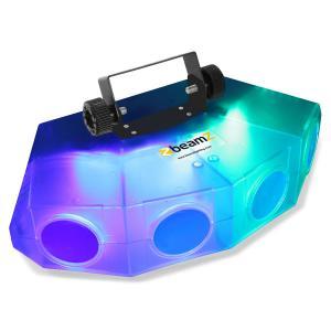 Mini-Moonflower Lichteffekt mit 4-LED-Linse 132xRGBA-LEDs transparent
