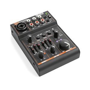 PDM-D301BT 3-Kanal-Mixer USB-Mischpult Bluetooth Phantomspeisung