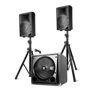 "VX800BT 2.1-Aktiv-Lautsprecher-Set 800W 12"" Sub 2x8"" Speaker BT USB SD"