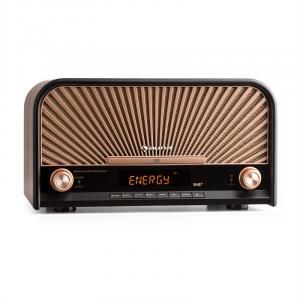 Glastonbury Retro-Stereoanlage Micro-Anlage Nostalgie-Radio DAB+/UKW-Tuner Bluetooth CD-Player USB MP3 Fernbedienung