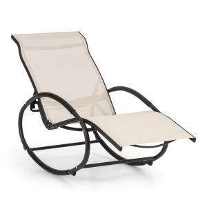 Santorini Schaukelstuhl Liegestuhl Aluminium Polyester beige