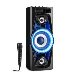 PPS 35 Audiosystem Lautsprecher Akku BT USB MP3 AUX UKW Guitar LED Mikrofon
