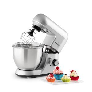 Bella Pico Mini-Küchenmaschine 800W 1,1PS 6 Stufen 4 Liter silber Silber