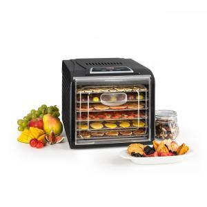 Fruit Jerky Plus 6 Dörrautomat Timer 6 Ablagen Blech 420-500W schwarz 6 Etagen