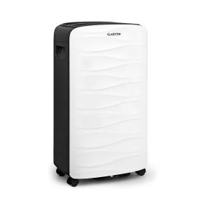 DryFy 16 Luftentfeuchter mit Luftfilter 255W Leistung Entfeuchtungsleistung 16l pro Tag 130m³ Luftumwälzung pro Stunde für Räume von 25-35m² 2l Wassertank einstellbare Zielluftfeuchte, Timer flüsterleise bei 43 dB weißes Designgehäuse 16l/24h