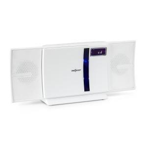 V-16-BT Stereoanlage Bluetooth CD USB MP3 UKW Wandmontage Weiß