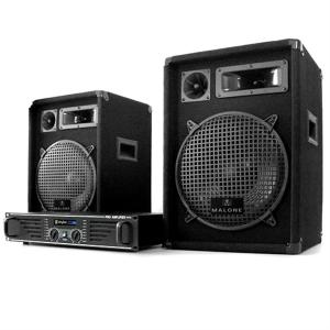 """DJ PA Komplettset """"Marrakesch Lounge"""" Verstärker 2x Boxen"""