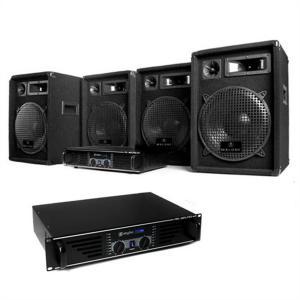 "DJ PA Komplettset ""Nizza Nights Pro"" 2x Verstärker 4x Boxen"