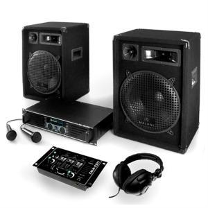 """PA Anlage """"Bass Boomer USB"""" Set Verstärker Boxen Mics"""