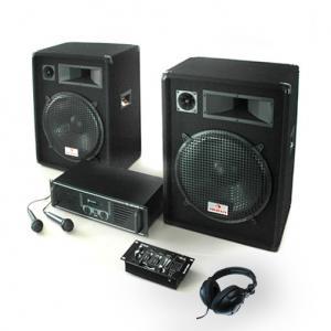 "PA Anlage ""Basstigall USB"" Set Verstärker Boxen Mics 1600W"