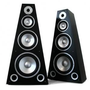 SP-800 4-Wege HiFi Lautsprecher Paar Pyramide Holz Boxen