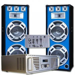"DJ Komplett-Set ""Bouncer"" Verstärker Boxen Mixer"