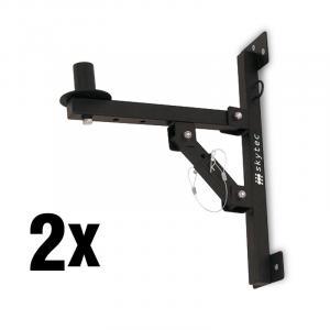 SKY-180 2x PA-Lautsprecher-Wandhalterung Stativ schwarz <50kg