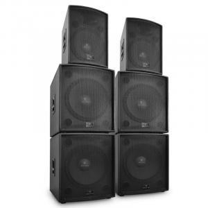 """DJ PA Aktiv Boxen Set """"Phidias"""" 6 Teile 12000W"""