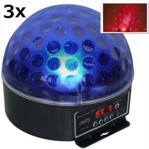 Magic Jelly DJ-Ball 3er Set LED-Lichteffekt RGB DMX