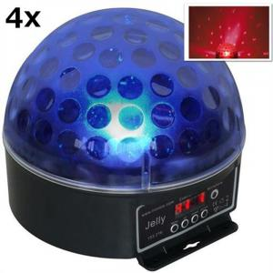 Magic Jelly 4er Set DJ-Ball LED-Lichteffekt RGB DMX