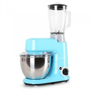 Carina Azzura Set 800W Küchenmaschine plus 1,5L Blender Krug Blau