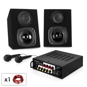 "Karaoke Party Set ""Ponny's Ranch NEO"" Verstärker, Lautsprecher & 2x Mikrofon"