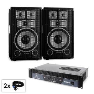 "PA Set Saphir Series ""Warm Up Party TX10"" Paar 25cm Boxen & Verstärker 1200W"
