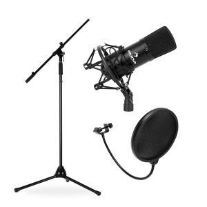 Mikrofonset mit CM001B Mikrofon, Stativ & Mikrofonständer