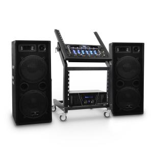 DJ PA Set Anlage Rack Star Series Mars Flash Bluetooth