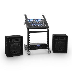 DJ PA Set Rack Star Uranus Blues Bluetooth 250 Personen