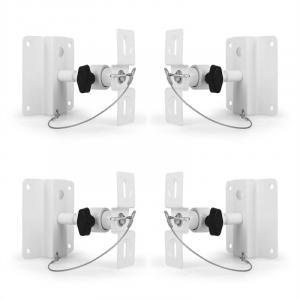 SB-01 Universal Boxenhalterung 4er-Set 10kg Weiß