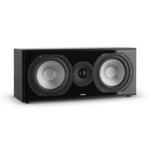 Reference 803 2-Wege-Center-Lautsprecher D'Appolito schwarz Cover silber