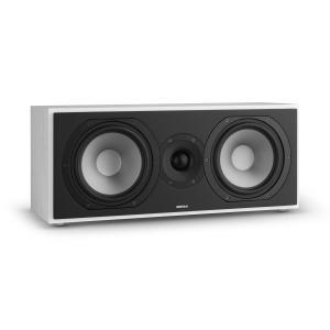 Reference 803 2-Wege-Center-Lautsprecher D'Appolito weiß inkl.Cover silber