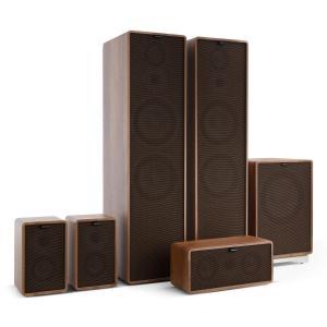 Retrospective 1977 MKII 5.1 Soundsystem walnuss inkl. Cover schwarz-braun