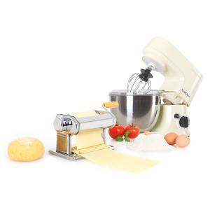 Carina Morena Pasta Maker Set Küchenmaschine 800W 4L Edelstahlschüssel