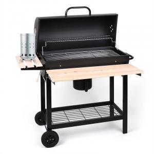 Beefbutler Set Holzkohlegrill BBQ Smoker + elektrischer Anzünder 350W