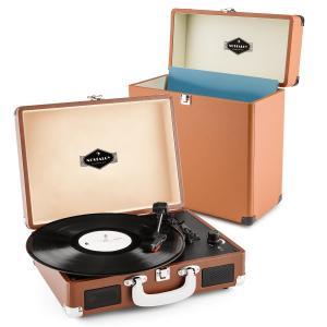 Peggy Sue Record Collector Set brown | Retro Plattenspieler | Plattenkoffer