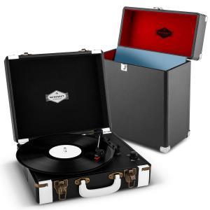 Jerry Lee Record Collector Set black Retro Plattenspieler Plattenkoffer