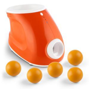 Ballyhoo Ballwurfmaschine + 5 Ersatzbälle Set für Hunde 3 Weiten 8 PU-Bälle