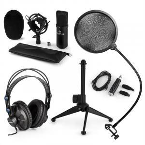 CM001B Mikrofon-Set V2 Kopfhörer Kondensatormikrofon schwarz