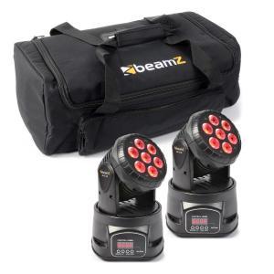 Lichteffekt-Set 2x MHL-74 Moving-Head Mini Wash & 1x Soft Case