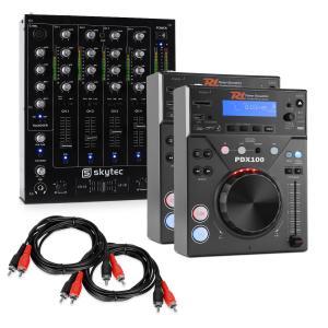 """DJ Set """"CD DJ Starter"""" - 4 Kanal Mixer 2xCD-Player 2xCinch Kabel"""