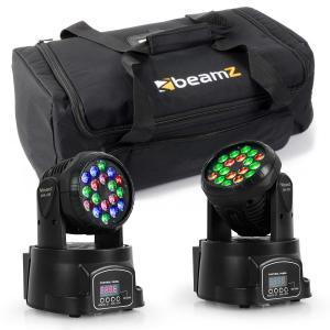 Lichteffekt-Set mit Transporttasche 2x LED-108 Moving-Head & 1x Soft Case