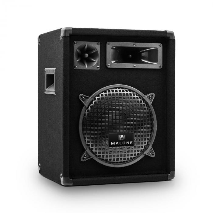 """PW-1022 3-Wege Box Lautsprecher 25cm (10"""") 400Wmax. / 200W RMS schwarz"""