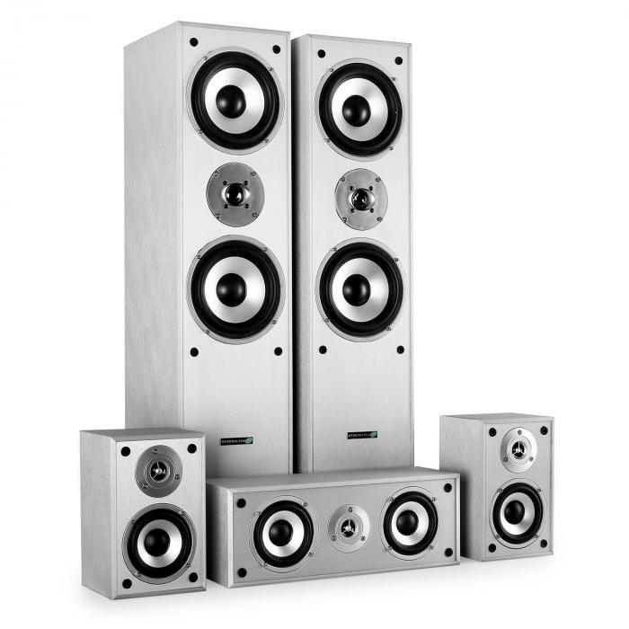 Surround Lautsprecher Boxen Set Heimkino 1150W Weiss