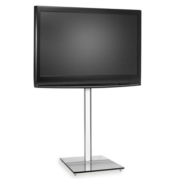 TV Halterung Ständer Glas Aluminium