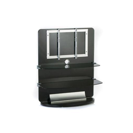 TV Möbel Glas 2 Etagen LCD Halterung Rack schwarz