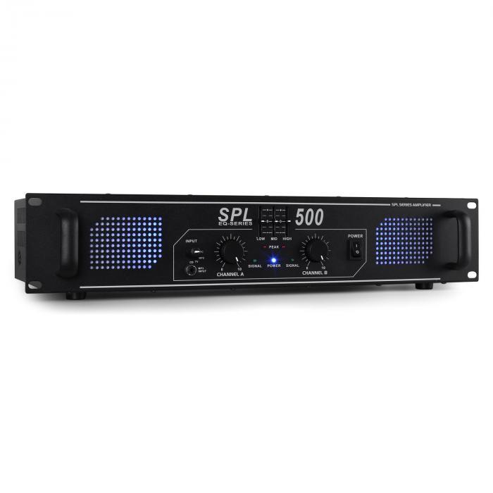SPL500 DJ PA-Verstärker 500W LED Equalizer