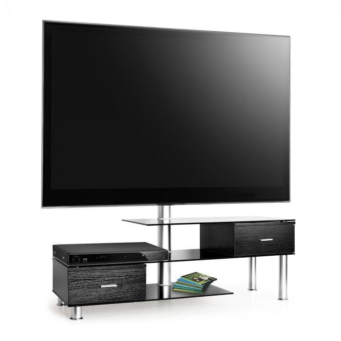 LK-1 TV-Tisch mit LCD-TV-Halterung schwarz Glas...