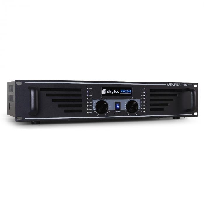 SKY-240 PA-Verstärker Endstufe 2 x 240W max. schwarz