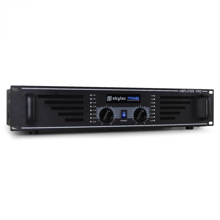 SKY-480 PA-Verstärker Endstufe 2 x 480W max. schwarz